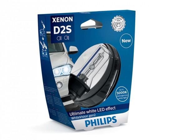 Philips Xenon WhiteVision gen2 D2S P32d-2 35 W 85 V (1er Blister)