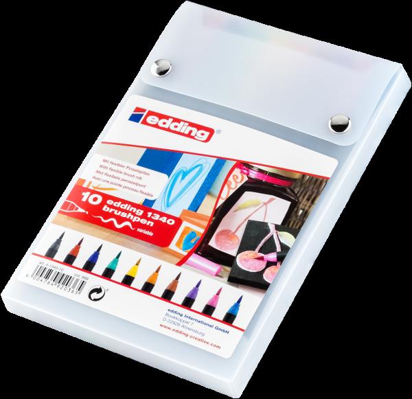 edding 1340 Pinselstift sortiert 1-10 (10er Set)