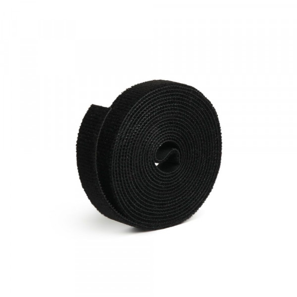 Label-The-Cable Roll, LTC PRO 1210, doppelseitige Klettbandrolle, 25 Meter schwarz