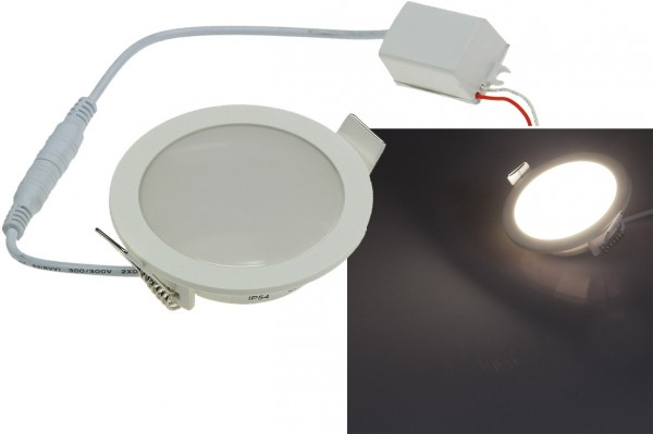 ChiliTec LED Licht-Panel CP-90R, Ø 90mm, IP54 230V, 5W, 420 Lumen, 4200K / neutralweiß