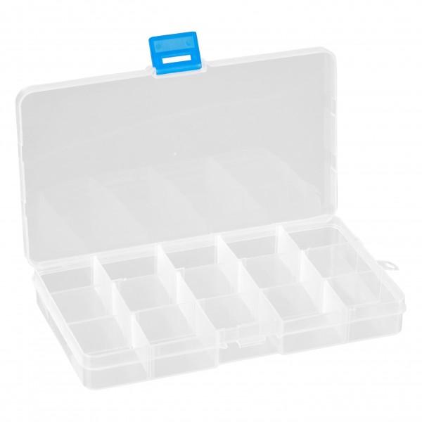 baytronic Plastik-Box mit 15 Fächern 175 x 100 x 22 mm