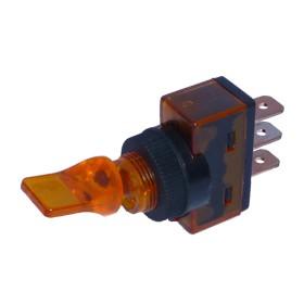 Kippschalter ON/OFF 3 x Steckanschluss 12 V 20 A orange