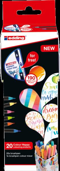 edding 1340 Pinselstift Colour Happy Box sortiert (21er Box)