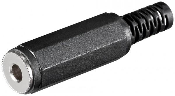 Klinkenkupplung 3,5 mm Mono, Plastikhülse m. Knickschutz
