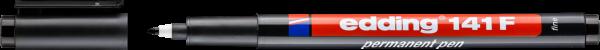 edding 141 F Permanenter Folienschreiber schwarz
