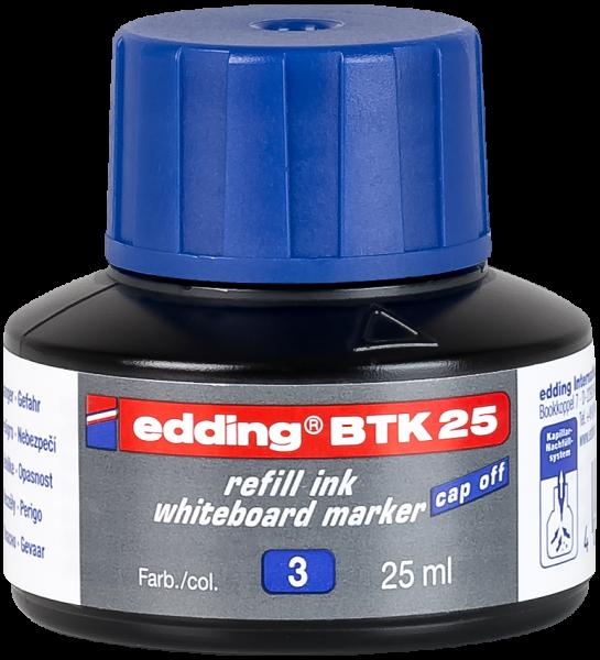 edding Whiteboardmarker BTK 25 Nachfülltinte blau 25 ml