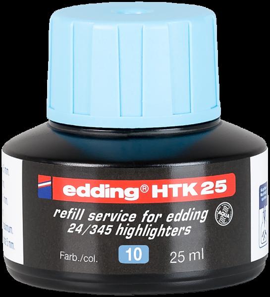 edding Textmarker 345/24 HTK 25 Nachfülltinte hellblau 25 ml
