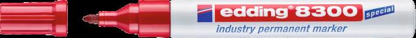 edding 8300 Industrie Permanentmarker rot