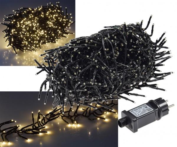 ChiliTec LED Büschel-Lichterkette CT-BLK080 8m warmweiß, 8 Effekte, IP44, 800 LEDs