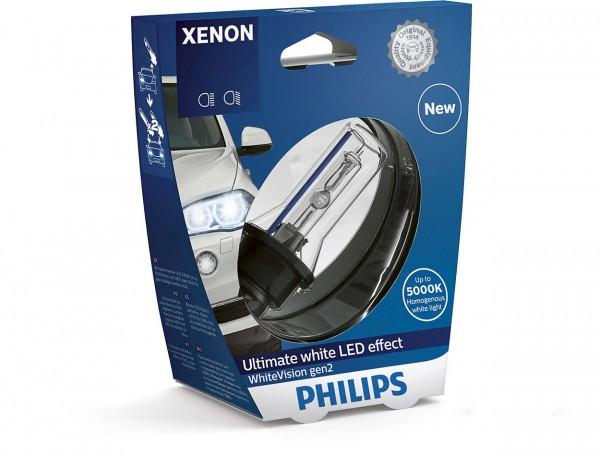 Philips Xenon WhiteVision gen2 D1S PK32d-2 35 W 85 V (1er Blister)
