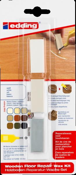 edding 8902 Holzboden-Reparatur-Wachs-Set weiß (3er Blister)