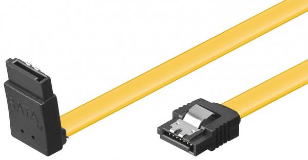 SATA 3.0 Kabel 0,5m mit Verriegelung gewinkelt gedreht