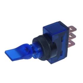 Kippschalter ON/OFF 3 x Steckanschluss 12 V 20 A blau