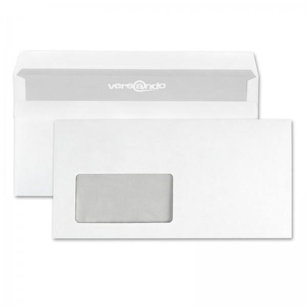 Versando Fenster-Briefumschläge DIN lang mit Fenster weiß selbstklebend (1000 Stück)