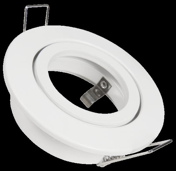 Einbaurahmen GU5.3 DL-248w 82mm weiß rund schwenkbar