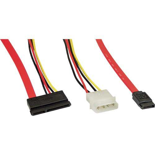 InLine® SATA Anschlusskabel, mit Daten- und Stromanschluss, 50+15cm