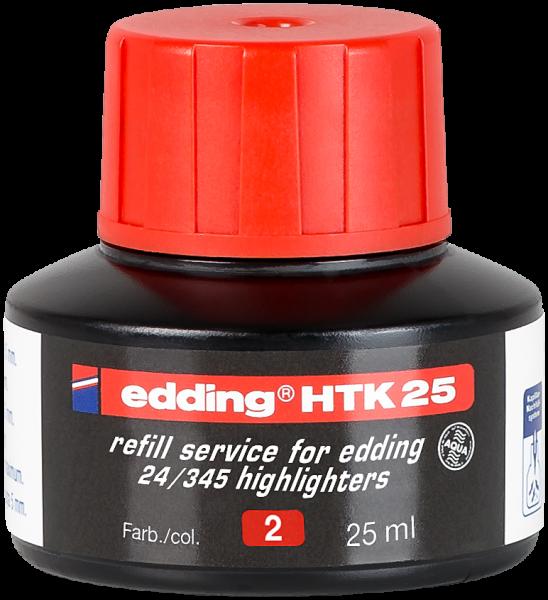 edding Textmarker 345/24 HTK 25 Nachfülltinte rot 25 ml
