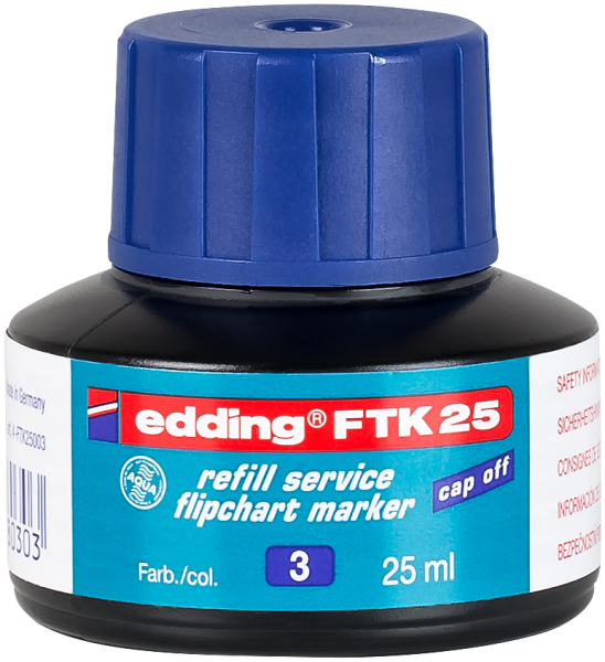 edding Flipchartmarker FTK 25 Nachfülltinte blau 25 ml