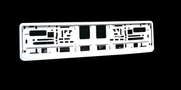 utal intense kennzeichenhalter wei glanz kennzeichenhalter rund ums auto eu bay elektronik. Black Bedroom Furniture Sets. Home Design Ideas