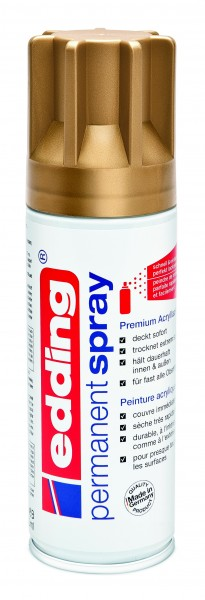 edding 5200 Permanentspray Premium Acryllack reichgold matt 200 ml