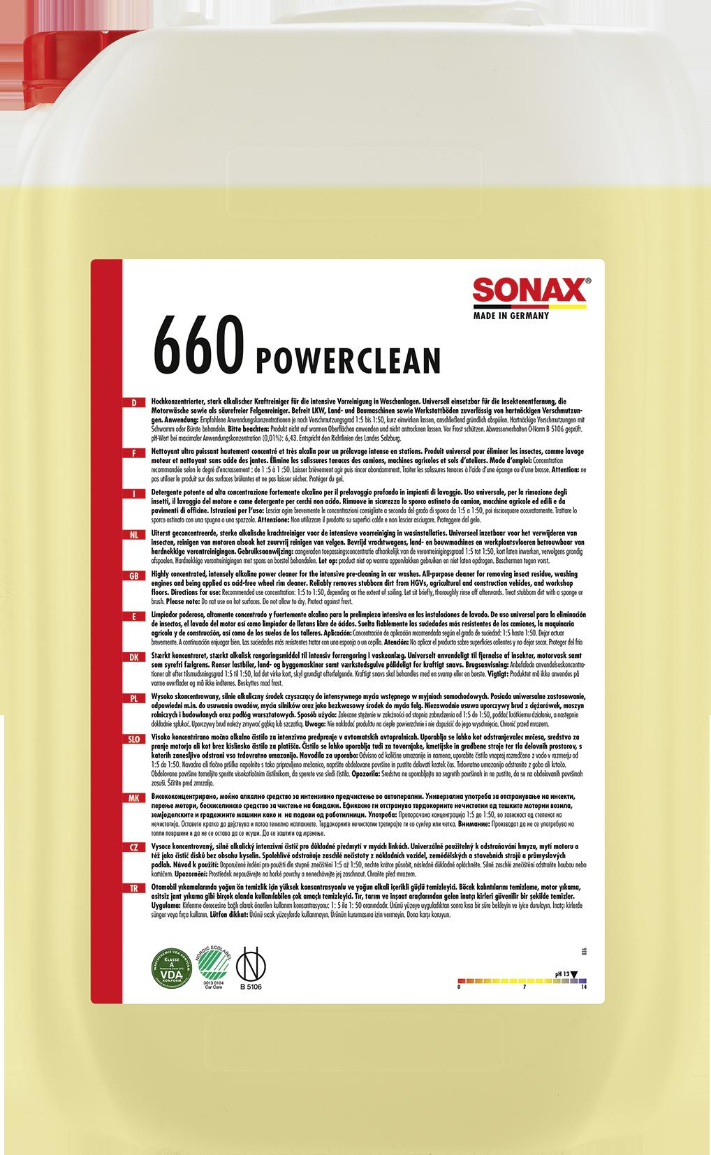 sonax sx powerclean 25 l gro gebinde industrie. Black Bedroom Furniture Sets. Home Design Ideas