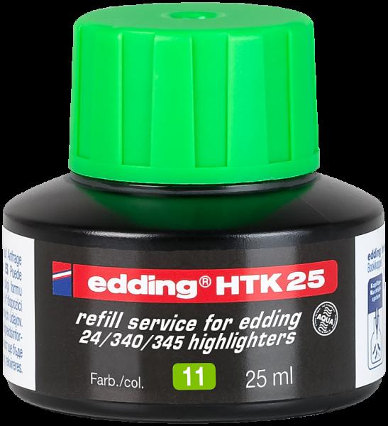 edding Textmarker 345/24 HTK 25 Nachfülltinte hellgrün 25 ml