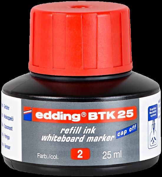 edding Whiteboardmarker BTK 25 Nachfülltinte rot 25 ml