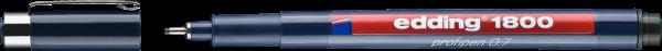 edding 1800 0,7 mm Präzisionsfeinschreiber schwarz