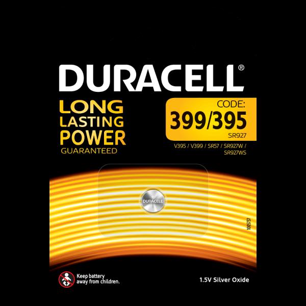 Duracell Specialty Silberoxid-Knopfzelle 399/395 SR927 1,5 V (1er Blister)