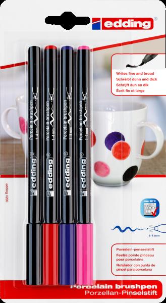 edding 4200 Porzellanpinselstift sortiert (4er Blister)