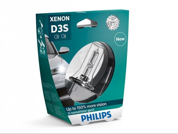 Philips Xenon X-tremeVision gen2 D3S PK32d-5 35 W 42 V (1er Blister)