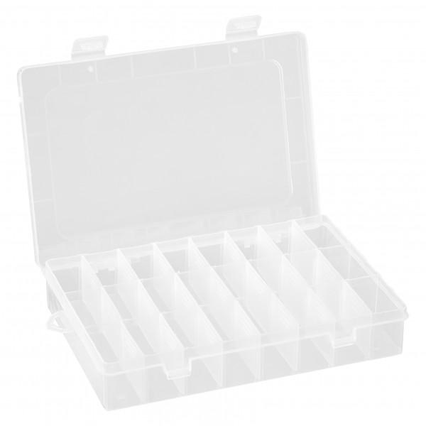 baytronic Plastik-Box mit 24 Fächern 195 x 130 x 35 mm