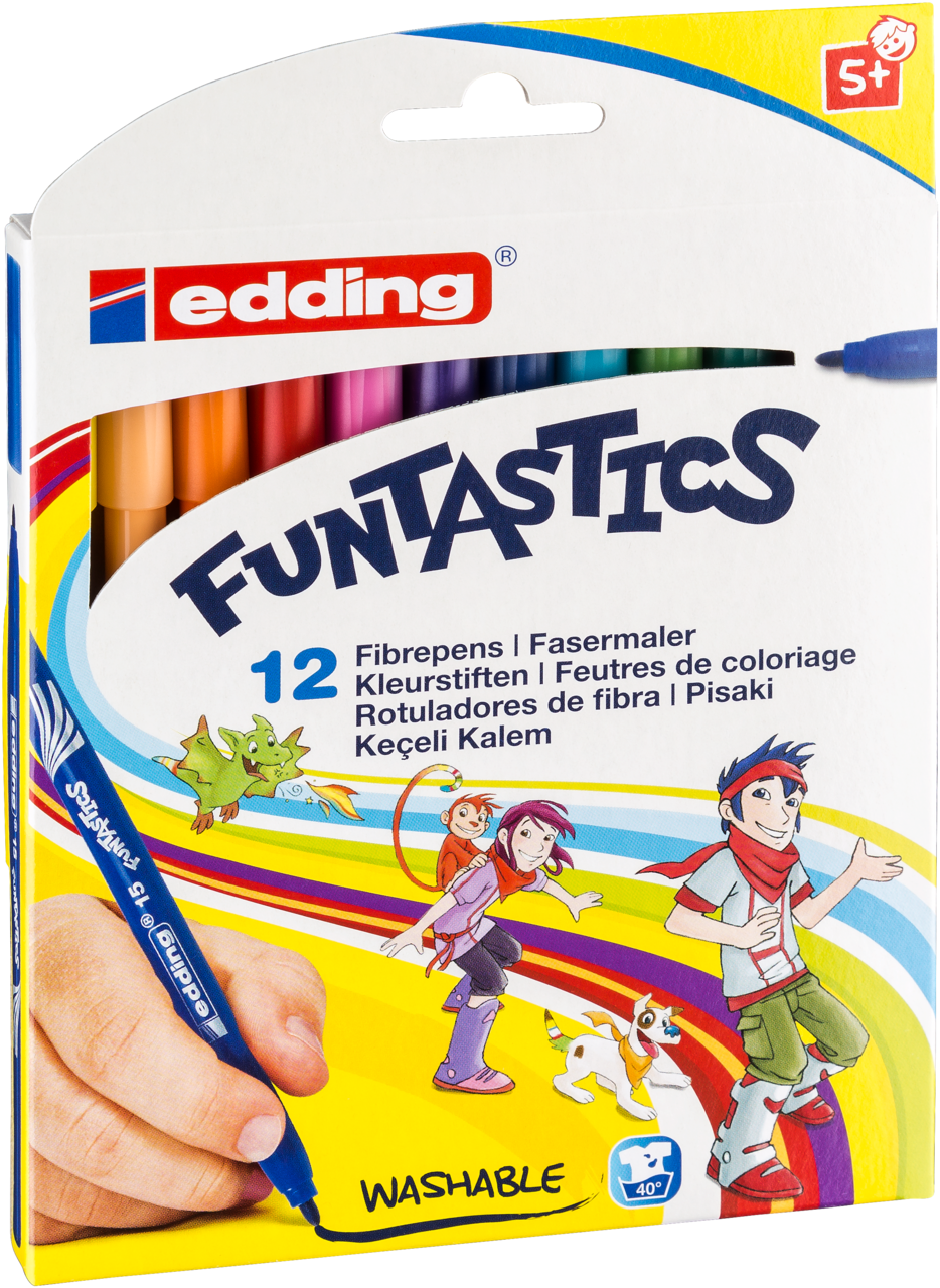 "Edding Kinderfasermaler /""/""Funtastics/""/"" 1,20 € // 1 Stk 18er Set"