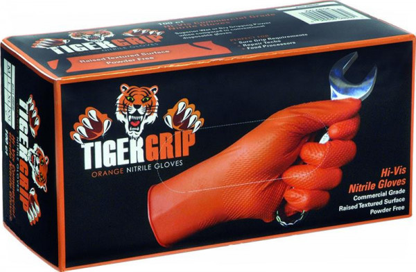 TigerGrip Nitril-Einweghandschuhe, orange