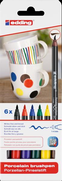 edding 4200 Porzellanpinselstift sortiert family (6er Blister)