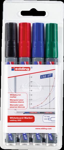 edding 250 Whiteboardmarker sortiert 1-4 (4er Set)