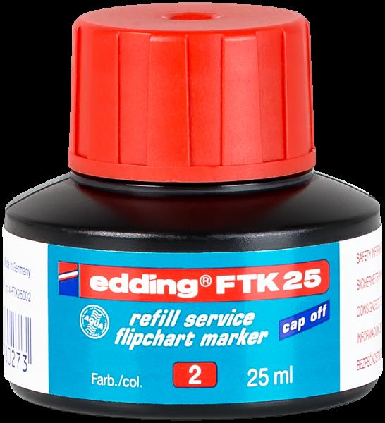 edding Flipchartmarker FTK 25 Nachfülltinte rot 25 ml
