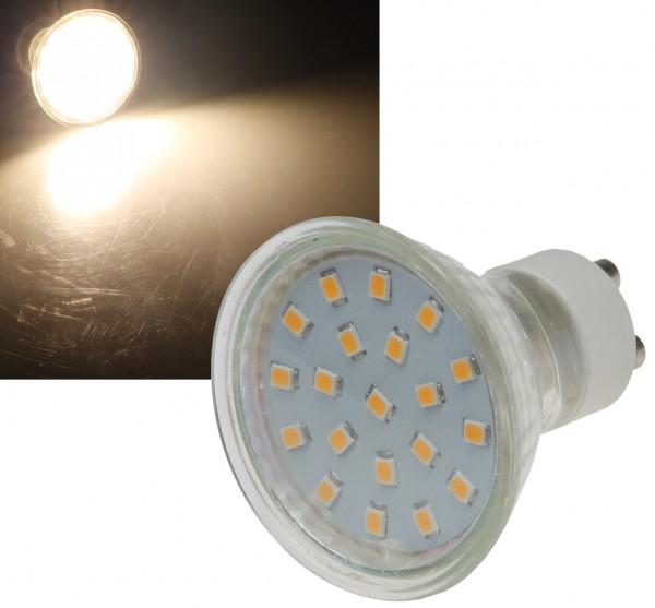 ChiliTec LED Strahler GU10 H40 SMD 120°, 3000k, 280lm, 230V/3W, warmweiß