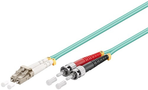 Lichtwellenleiterkabel Multimode (OM3) Aqua LC-Stecker (UPC) > ST-Stecker (UPC)