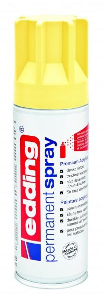 Edding 5200 permanent spray pastellgelb seidenmatt