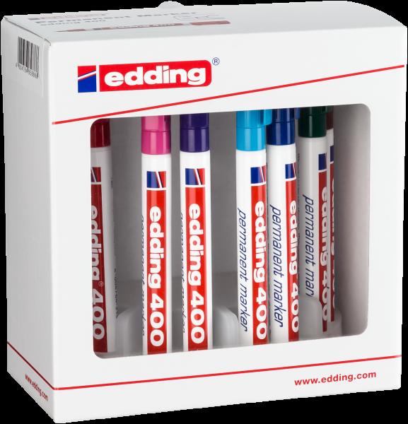edding 400 Permanentmarker sortiert 1-10 (10er Systembox)