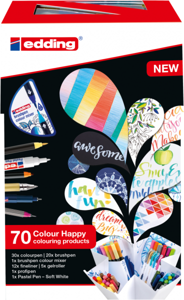 edding Colour Happy Big Box sortiert (70er Box)