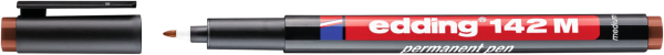 edding 142 M Permanenter Folienschreiber braun