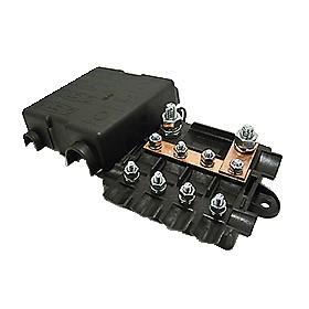 Sicherungshalter für 4 x Midi Sicherung + 1 x Mega Sicherung 116 x 87 mm