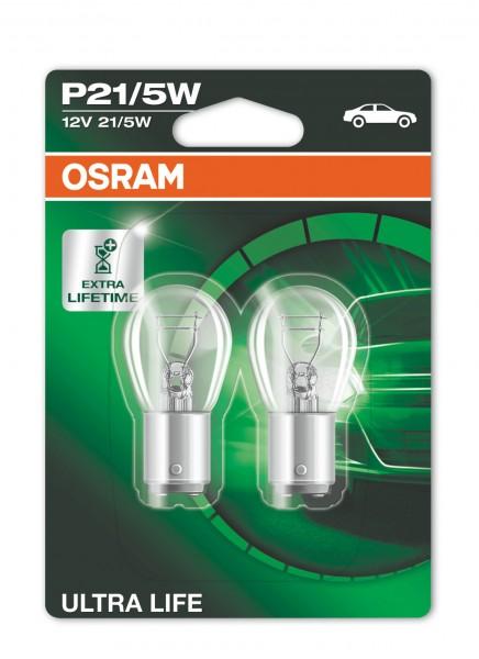 OSRAM ULTRA LIFE P21/5W BAY15d 12 V/21-5 W (2er Blister)