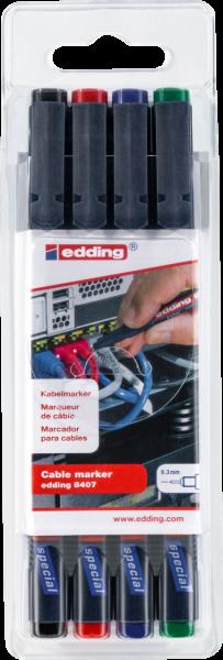 edding 8407 Kabelmarker sortiert 1-4 (4er Set)