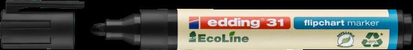 edding 31 EcoLine Flipchartmarker schwarz
