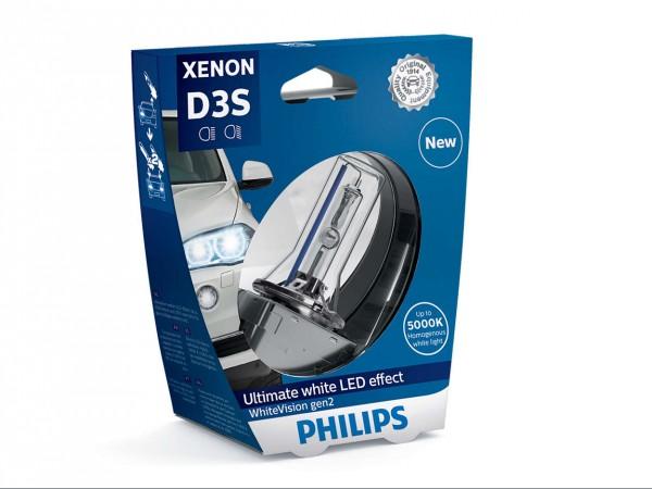 Philips Xenon WhiteVision gen2 D3S PK32d-5 35 W 42 V (1er Blister)