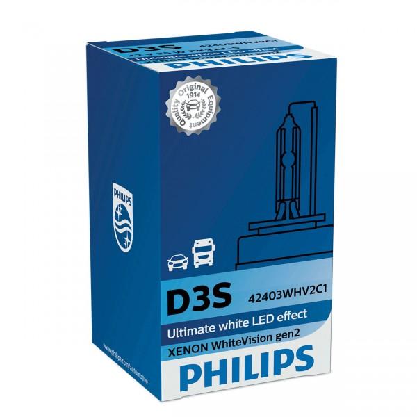 Philips Xenon WhiteVision gen2 D3S PK32d-5 35 W 42 V (1er Faltschachtel)