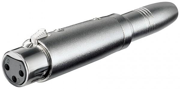 XLR- Adapter 3pol. XLR-Kupplung > 6,35 mm mono Kuppl.